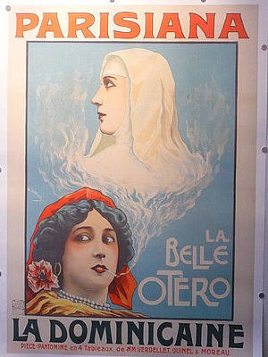 Original Theater Poster 1903 La Dominicaine Parisiana Original by Damare