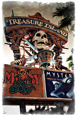 Photograph - Original Treasure Island Marquee 1994 - Impressions by Ricky Barnard