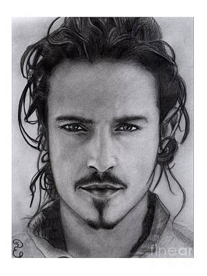 Orlando Bloom Original Pencil Drawing Original by Debbie Engel