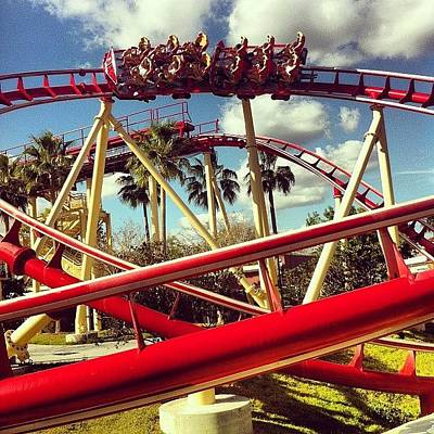 Track Wall Art - Photograph - Orlando Roller Coaster by James Roberts