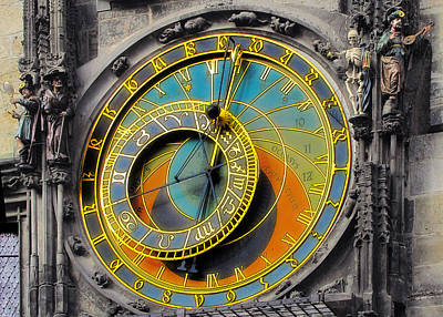 Orloj - Astronomical Clock - Prague Print by Christine Till