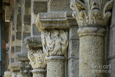 Ornament Of Cloister Of Puy En Velay. Haute Loire. Auvergne Art Print