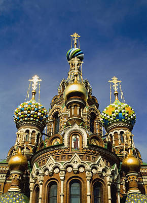 Ornate Exterior Of Church Of Spilled Art Print by Axiom Photographic