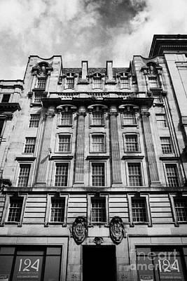 Ornate Facade Of 124 St Vincent Street Refurbished Into Modern Office Space Glasgow Scotland Uk Art Print by Joe Fox