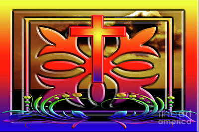 Photograph - Ornate Rainbow Cross by Clayton Bruster