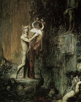 Orpheus Art Print by Pierre Amedee Marcel-Beronneau