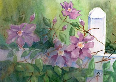 Vines Painting - Orrville Clematis by Marsha Elliott