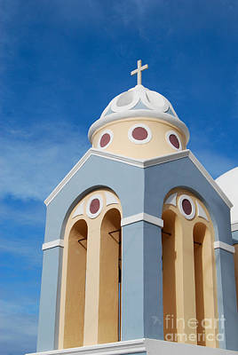 Photograph - Orthodox Church In Santorini Of Greece by Eva Kaufman