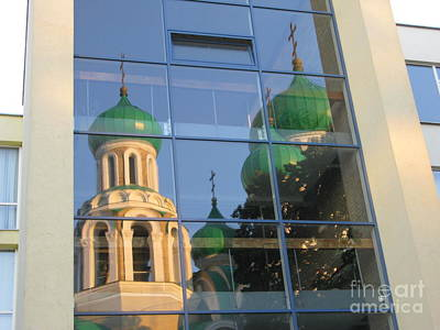 Photograph - Orthodox Church Of Sts Michael And Constantine- Vilnius Lithuania- Reflection by Ausra Huntington nee Paulauskaite