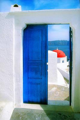 Photograph - Orthodox View-santorini by John Galbo