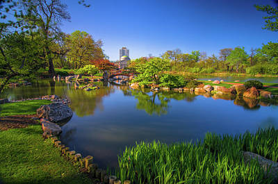 Osaka Garden Pond Art Print
