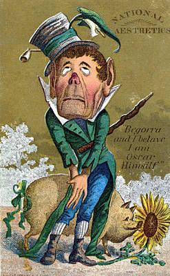 Oscar Wilde Trade Card Art Print