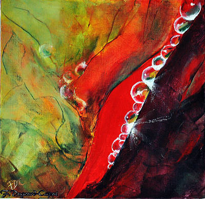 Nature Abstract Painting - Osolemio by Francoise Dugourd-Caput
