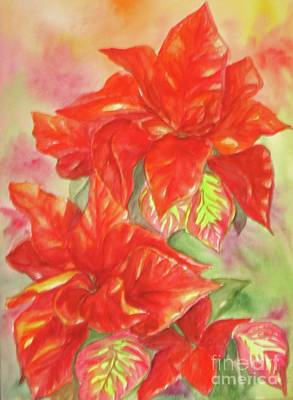 Painting - Other Poinsettia by Inese Poga