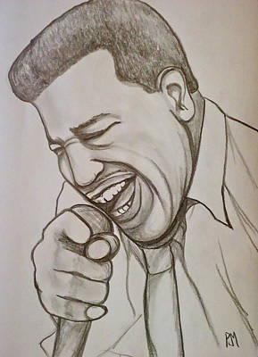 Soul Singer Drawing - Otis Redding by Pete Maier