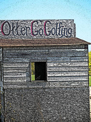 Otter Go Golfing Art Print