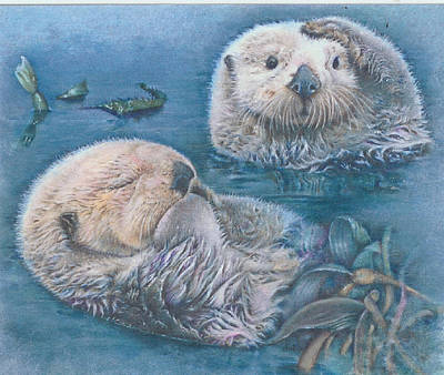 Otter Mixed Media - Otter Odyssey by Beverly Chick