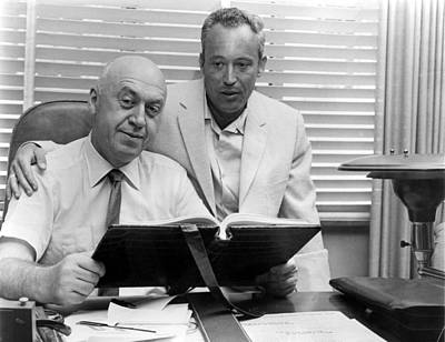 Otto Preminger, Director & Leon Uris Print by Everett