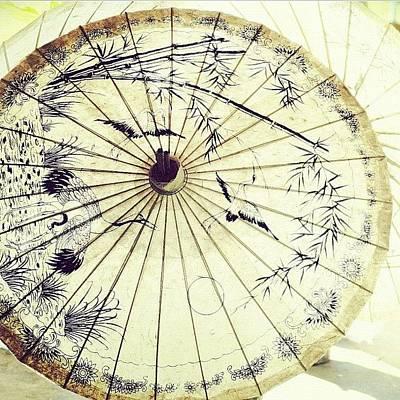 Travel Wall Art - Photograph - O..#under My Umbrella #thailand #travel by A Rey