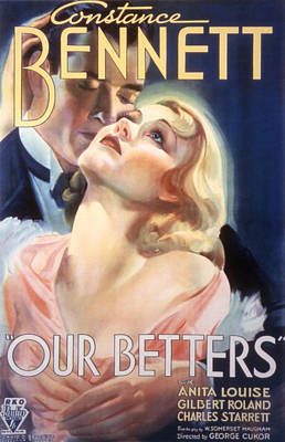 Postv Photograph - Our Betters, Constance Bennett, Gilbert by Everett