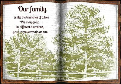 Our Family Roots Art Print by Michelle Frizzell-Thompson