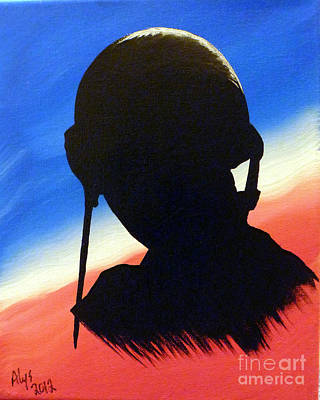 Korean War Painting - The Marine by Alys Caviness-Gober