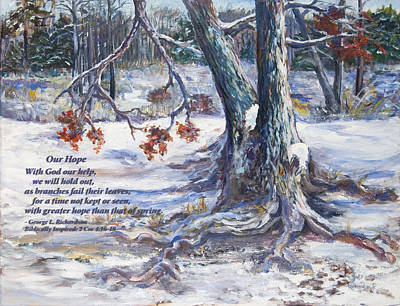 Art Print featuring the painting Our Hope With Poem by George Richardson