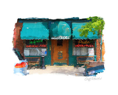 Digital Art - Our Italian Restaurant by Geoff Strehlow