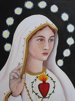 Christina Miller Painting - Our Lady Of Fatima by Christina Miller