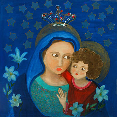 Painting - Our Lady Of Good Counsel by Maria Matheus Maria Santeira