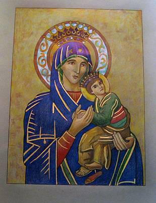 Drawing - Our Lady Of Perpetual Help by Patrick RANKIN