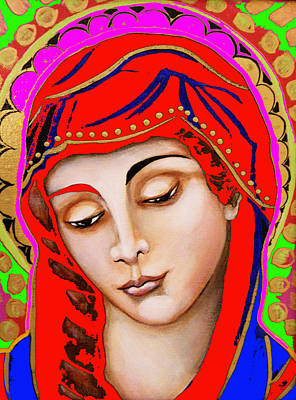 Our Lady Of Sorrows Art Print by Christina Miller