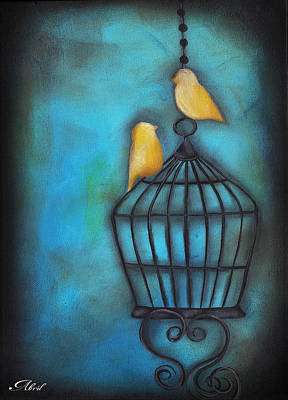 Love Is Free Painting - Our Love Is Free by  Abril Andrade Griffith