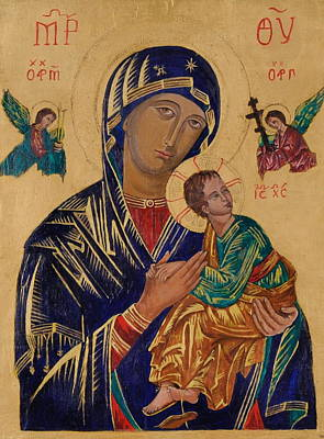 Our Mother Of Perpetual Help Art Print by Camelia Apostol