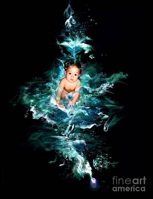 Digital Art - Our Water Child by Atheena Romney
