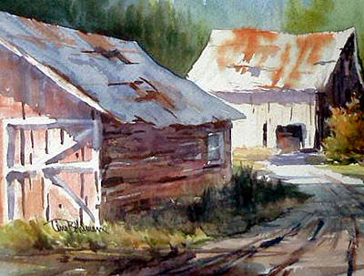 Painting - Out Back by Tina Bohlman