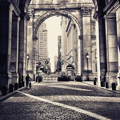 Manhattan Photograph - Out From Shadows - Manhattan Municipal Building - New York City by Vivienne Gucwa