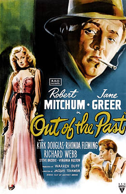 Jbp10ju18 Photograph - Out Of The Past, Jane Greer, Robert by Everett
