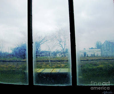 Digital Art - Out The Back Window Of The Delta Blues Museum Clarksdale Ms by Lizi Beard-Ward