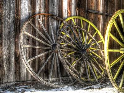 Wagon Wheels Photograph - Out West by Jane Linders
