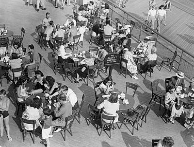 Outdoor Cafe Scene Art Print by George Marks