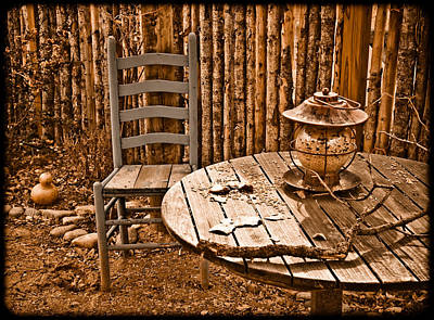 Photograph - Santa Fe, New Mexico - Outdoor Dining by Mark Forte