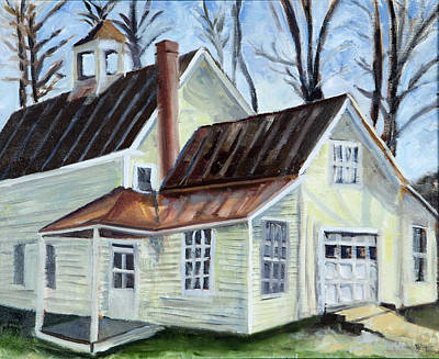 New Hampshire Artist Painting - Outside Mt. Chocura. Tamworth New Hampshire by Maurice Pelissier