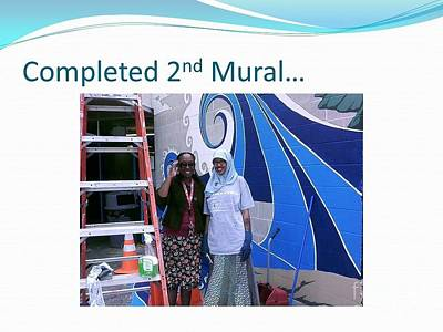 Painting - Outside Mural Two by Carol Rashawnna Williams