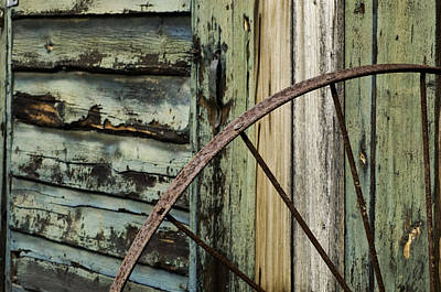 Art Print featuring the photograph Outside Of An Old Barn by Nancy De Flon