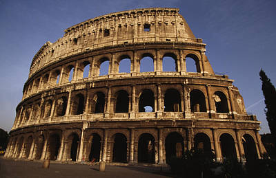 Outside Of The Collosseum, Rome, Italy Art Print by Paul Chesley