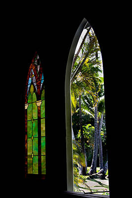 Photograph - Outside The Church Windows by Roger Mullenhour
