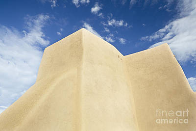 Outside Wall Of The San Francisco De Asis Mission Church Art Print by Bryan Mullennix