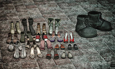 Shoe Digital Art - Outsider by Jutta Maria Pusl