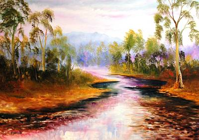 Oven's River Myrtleford Art Print